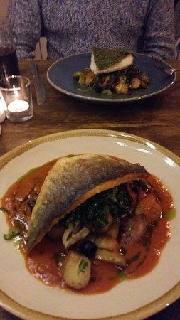 Rothwell, UK: Seabass dish