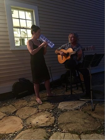 Orford, NH: Jenn & Don were playing for the outside guests of Peyton Place