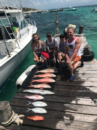 Puerto Morelos Charters: Our catch with Galileo!