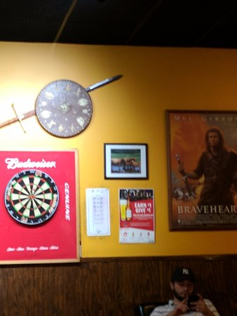 Molly MacPherson's Scottish Pub & Grill: The shield and poster were from Bravehears