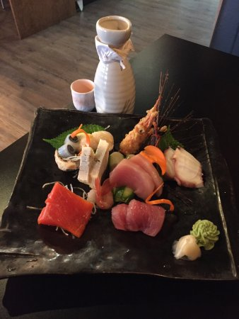 "KAYA Sushi + Grill: This was the small ""chef's choice sashimi platter"" AWESOME!!!"