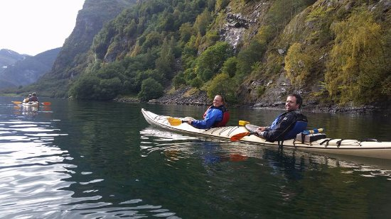 Njord - Seakayak and Wilderness Adventure Day Tours : Kayaking the fjord