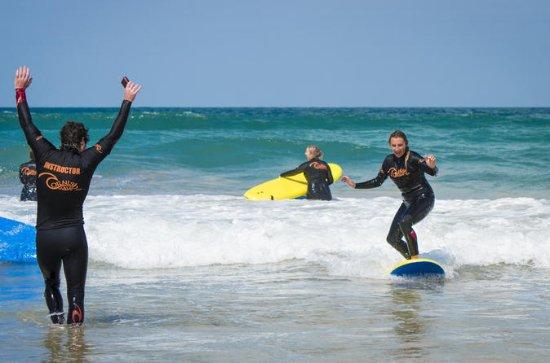 Grupp Surf Lektion på Fistral Beach