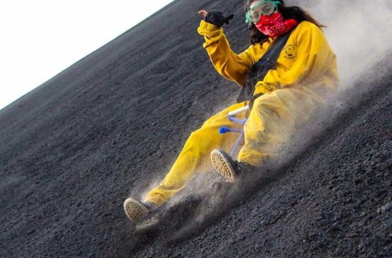 Volcano boarding at Cerro Negro and...