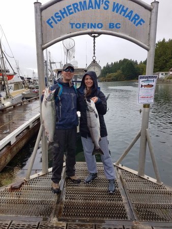 Clayoquot Ventures Tofino Fishing: A couple nice Cohos thanks to Captain Mike!