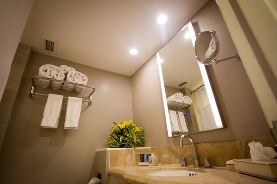 Crowne Plaza Hotel Managua: Bathrooms With Touchscreen Mirrors, New Faucets  And Countertops.