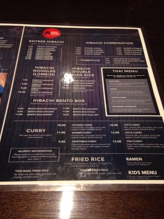 Shogun: Looks very nice and good sized menu!