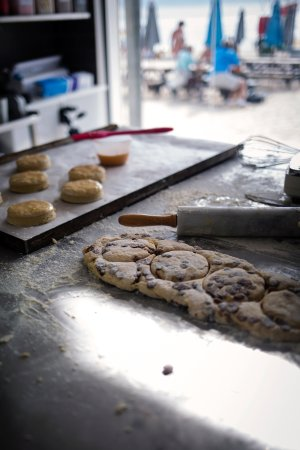 Gylly Beach Cafe: Fresh scones made daily throughout the summer in our Bakery on the Beach