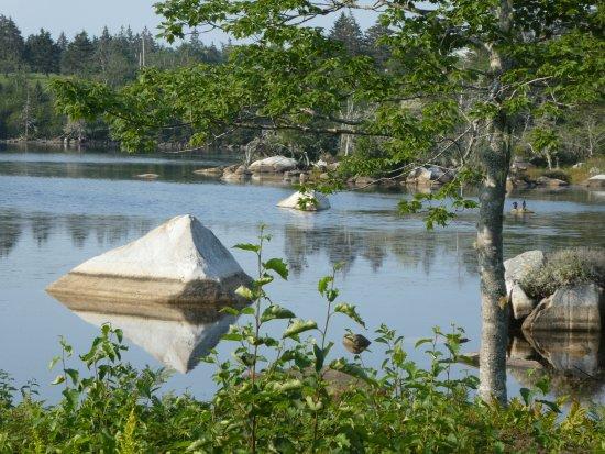 Southwest Nova Scotia, Canada: uitizcht vanaui onze kamer