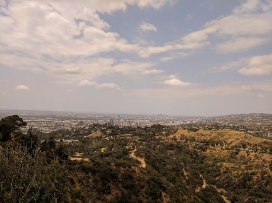 LA pathways visible from Griffith Park