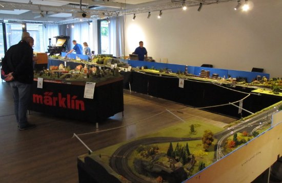Freudenberg, Germany: Modellbahnanlage der I.G. Modellbahn Dielfen während der Sonderausstellung im Oktober 2016