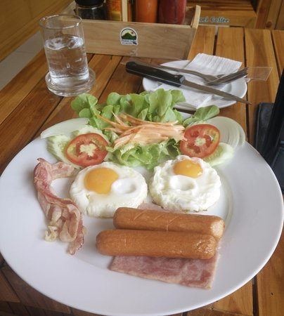 Loei Province, Thaïlande : American breakfast