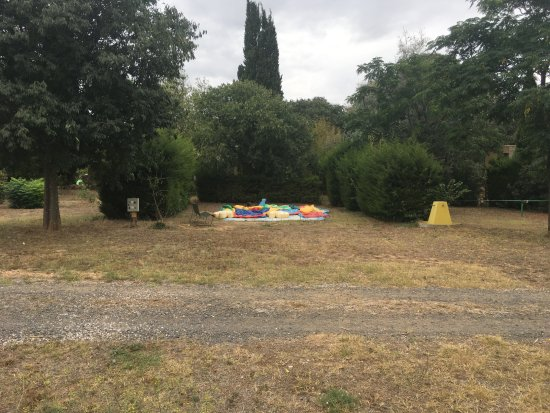 Montagnac, France: Bouncy castle (deflated)
