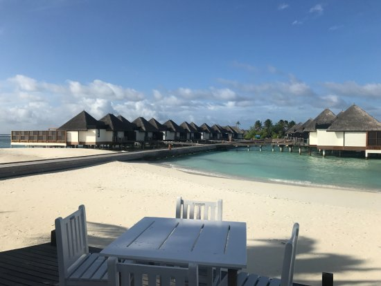 Four Seasons Resort Maldives at Kuda Huraa: villas on stilts over the water