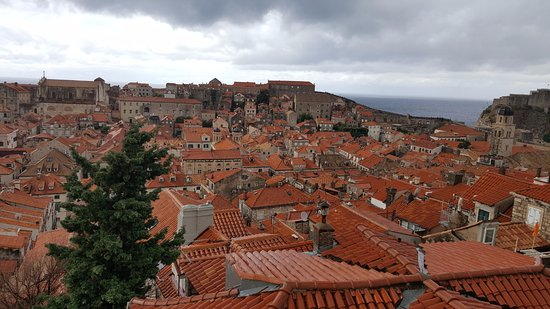 Attractive Ancient City Walls: Dubrovnik Red Roofs