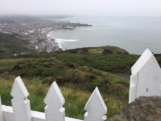 Aberystwyth, UK: view from the top (almost)