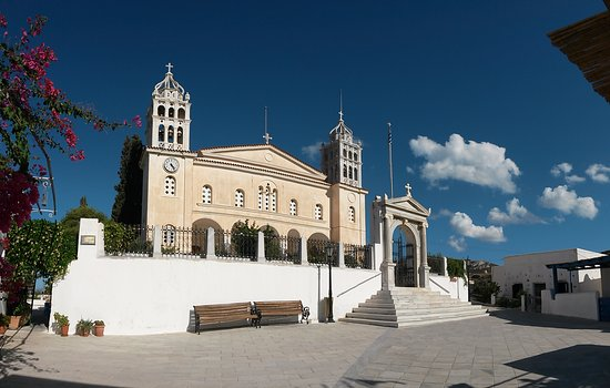 Lefkes, Greece: Piazzale - panoramica