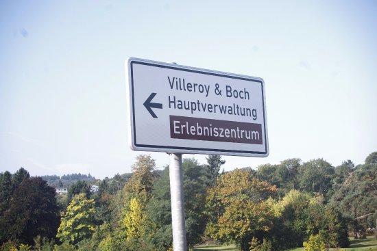 Erlebniszentrum Villeroy&Boch: Panneau signalétique