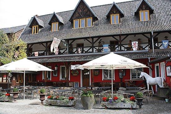 Mechernich, Niemcy: Het restaurant (dat gesloten was).