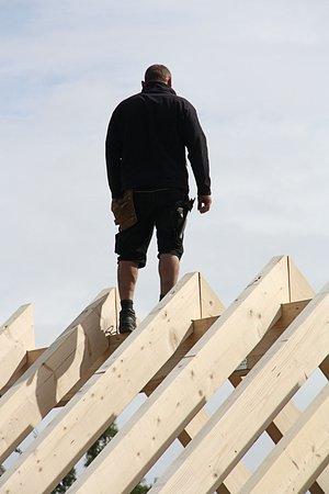 Mechernich, Niemcy: Niet moeilijk doen, gewoon door bouwen aan de bijgebouwen.