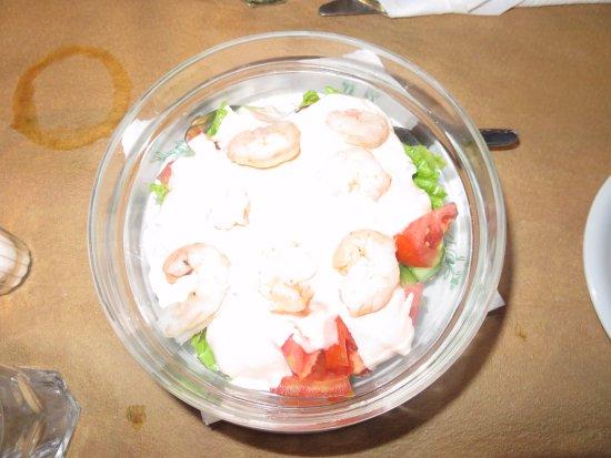 Restaurant Amalia: Prawn salad