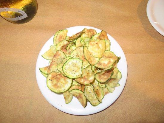Restaurant Amalia: fried zukini