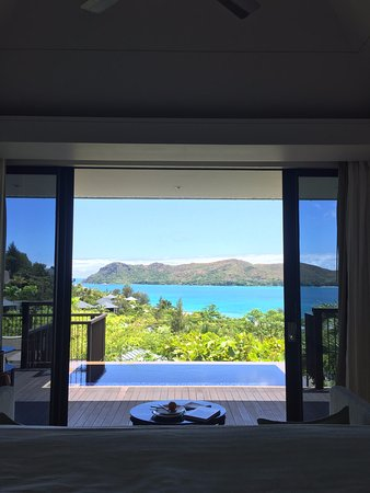 Anse Takamaka, Seychellen: View from bed