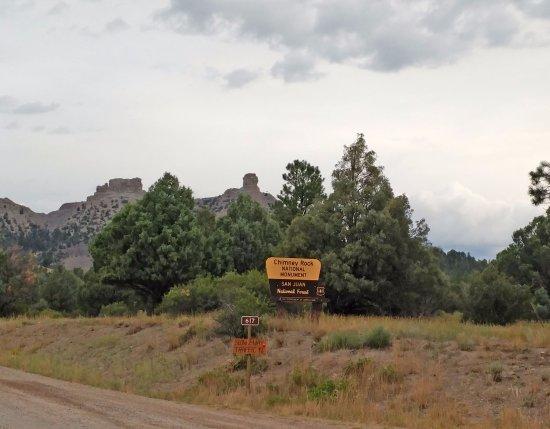 Chimney Rock National Monument: Entrance sign