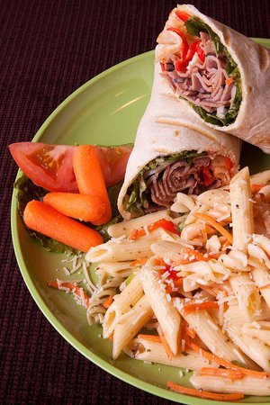 Butte, MT: Bistro Beef Wrap with Pasta Salad