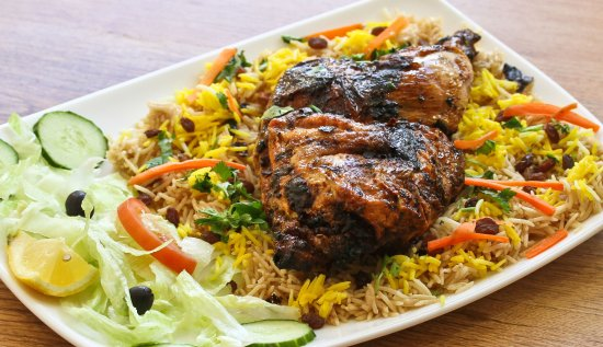 Mandi chicken is one of the famous arabian food half chicken with alkhaleej mandi chicken is one of the famous arabian food half chicken with mandi forumfinder Choice Image