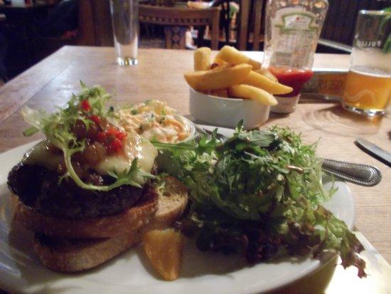 Clayton, UK: Venison burger