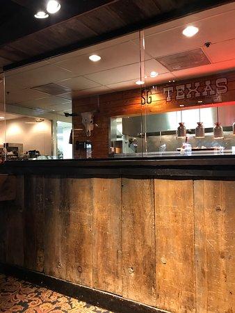 Saltgrass Steak House: Inside this restaurant on Wednesday September 27