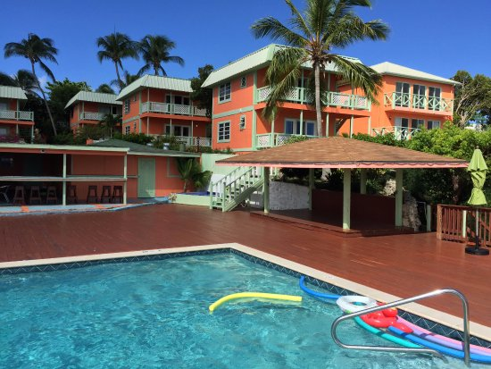 Cupecoy Bay, St Martin / St Maarten: I stayed in the second building from the pool... a beautifully decorated second-floor unit.