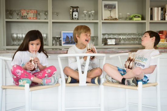 The Lodge on the Cove: The milkshakes from The Dory guarantee happy travelers.