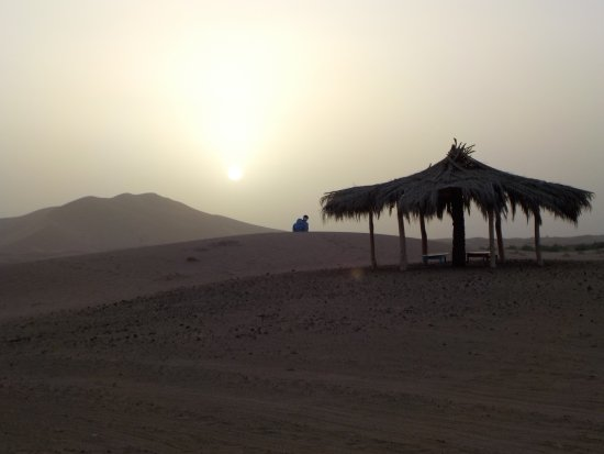 Jaimas Madu: Sahara sand obscuring the sunset