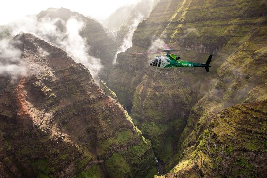 A helicopter tour in Kauai is a must - just not with Safari
