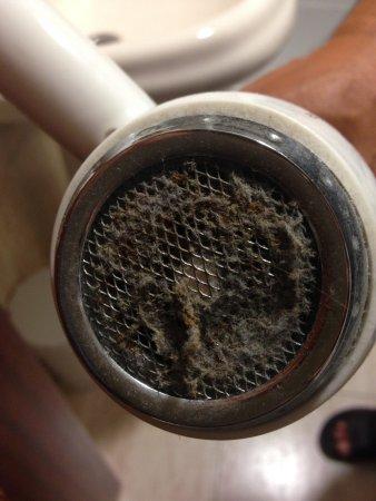 Complejo Copacabana: ay esta el secador prueba de la limpieza que había