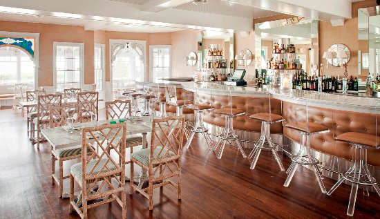 Dining room and bar at The Tides Beach Club