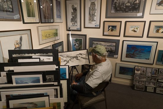 Ptarmigan Arts: An artist in the store. Very knowledgeable and happy to discuss his art.