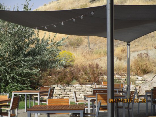 Poplar Grove Winery: Dining Patio With Sail For Shade.