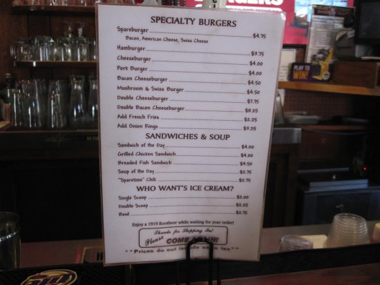Belle Plaine, MN: Menu