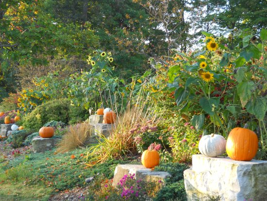 Egg Harbor, WI: Great seasonal landscaping and decorations