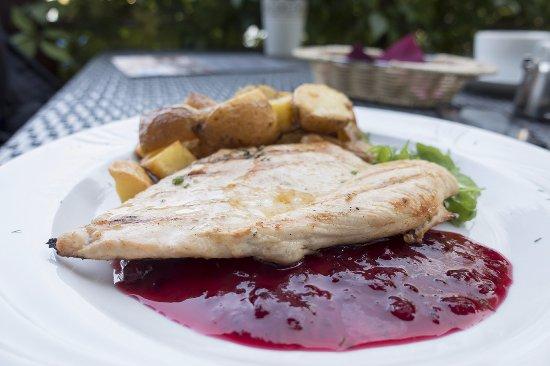 Szczytno, Ba Lan: Grillowany filet z kurczaka z żurawiną