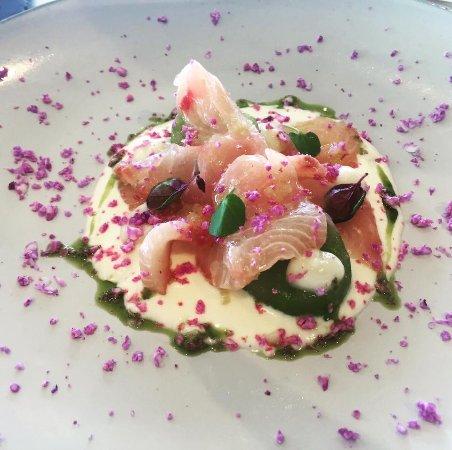 Whale Beach, Australia: Wild Caught Kingfish, buttermilk, cucumber, mint