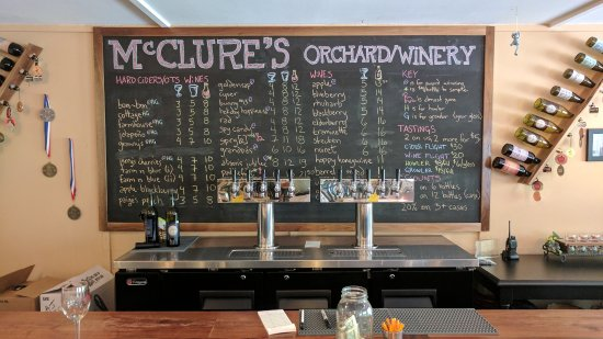 Peru, IN: Cider taps and selection board