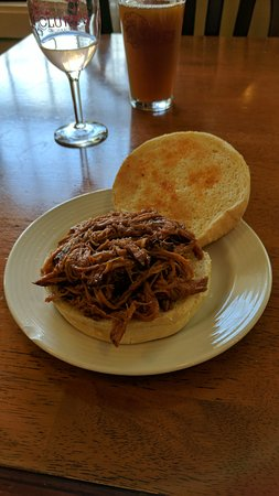 Peru, IN: Pulled pork sandwich