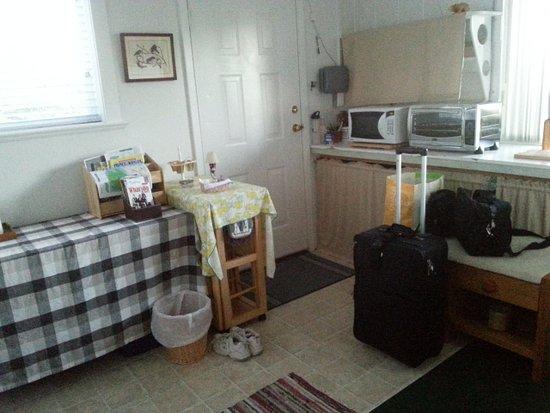 Island View Bed and Breakfast: Basement door enter/exit