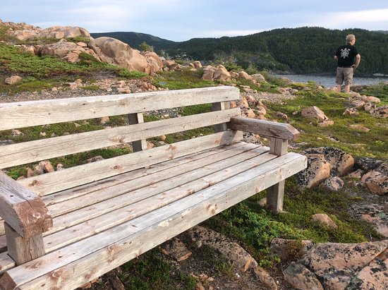 La Scie, Canadá: A bench to rest and enjoy the view