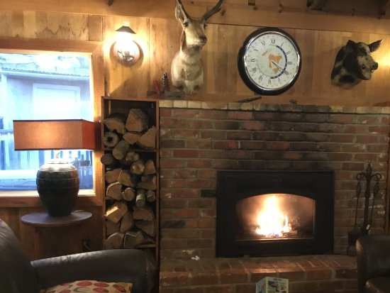 Midpines, Californien: Nice cosy fire
