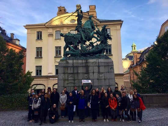 Free Tour Stockholm : Photo taken by Georgette with members of the walking tour